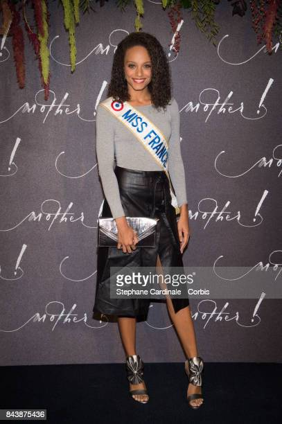 Miss France 2017 Alicia Aylies attends the French Premiere of 'mother' at Cinema UGC Normandie on September 7 2017 in Paris France