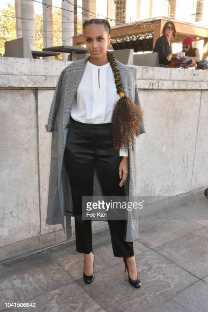 Miss France 2017 Alicia Aylies attends the Guy Laroche show as part of Paris Fashion Week Womenswear Spring/Summer 2019 on September 26 2018 in Paris...