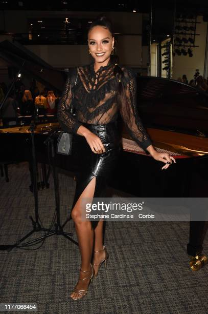 Miss France 2017 Alicia Aylies attends the Guy Laroche Womenswear Spring/Summer 2020 show as part of Paris Fashion Week on September 25 2019 in Paris...