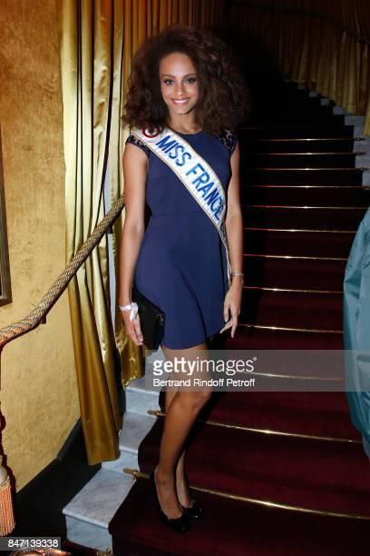 Miss France 2017 Alicia Aylies attends the Reopening of the Hotel Barriere Le Fouquet's Paris decorated by Jacques Garcia at Hotel Barriere Le...