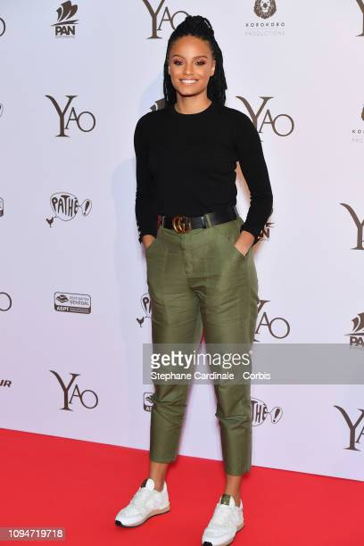 Miss France 2017 Alicia Aylies attends Yao Paris Premiere at Le Grand Rex on January 15 2019 in Paris France