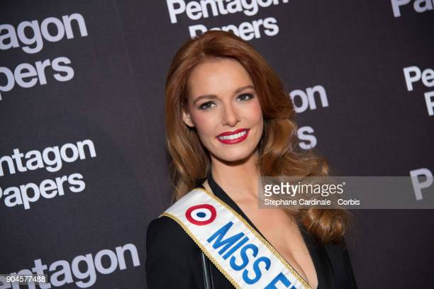 Miss France 2018 Maeva Coucke attends 'Pentagon Papers' Premiere at Cinema UGC Normandie on January 13 2018 in Paris France