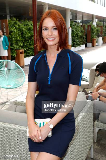 Miss France 2018 Maeva Coucke attends the 2019 French Tennis Open Day Ten at Roland Garros on June 04 2019 in Paris France