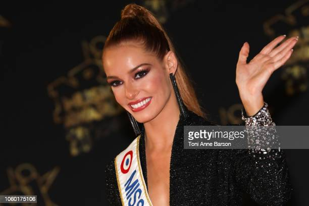 Miss France 2018 Maeva Coucke attends the 20th NRJ Music Awards at Palais des Festivals on November 10 2018 in Cannes France