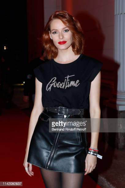 Miss France 2018 Maeva Coucke attends the I am not a Rapper Capsule Collection Launch Party Photocall on April 11 2019 in Paris France