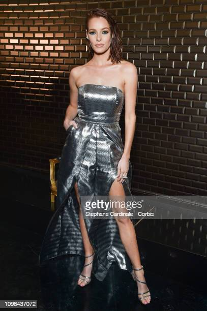Miss France 2018 Maeva Coucke attends the Jean Paul Gaultier Haute Couture Spring Summer 2019 show as part of Paris Fashion Week on January 23 2019...