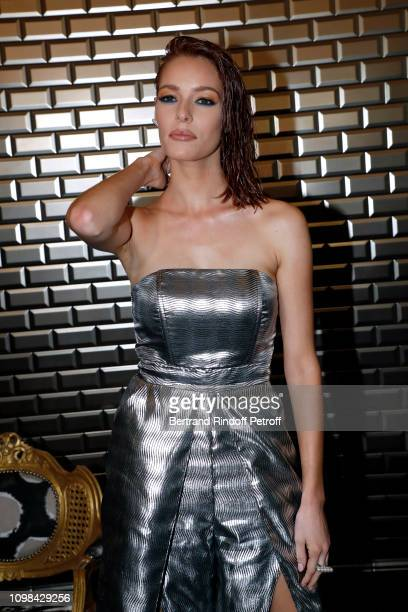 Miss France 2018 Maeva Coucke attends the JeanPaul Gaultier Haute Couture Spring Summer 2019 show as part of Paris Fashion Week on January 23 2019 in...