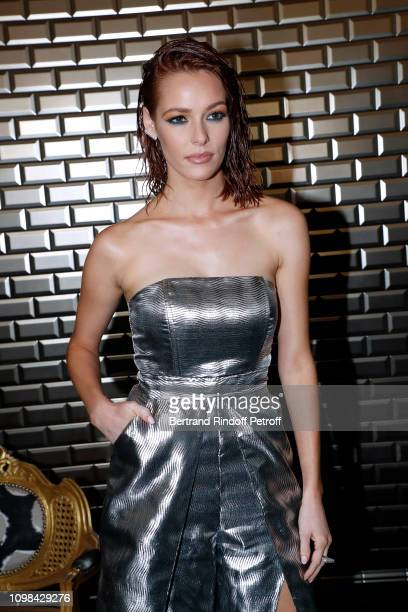 Miss France 2018 Maeva Coucke attends the Jean-Paul Gaultier Haute Couture Spring Summer 2019 show as part of Paris Fashion Week on January 23, 2019...