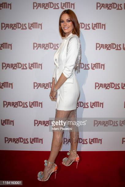 Miss France 2018 Maeva Coucke attends the L'Oiseau Paradis show at Le Paradis Latin on June 06, 2019 in Paris, France.
