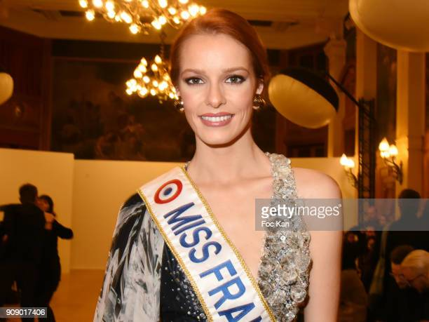 Miss France 2018 Maeva Coucke attends the On Aura Tout Vu Haute Couture Spring Summer 2018 show as part of Paris Fashion Week on January 22 2018 in...