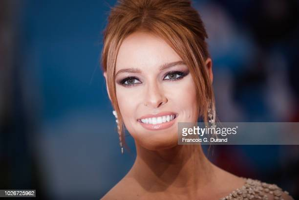 Miss France 2018 Maeva Coucke attends the premiere for 'The Sister Brothers' 'Les Freres sisters' during the 44th Deauville American Film Festival on...