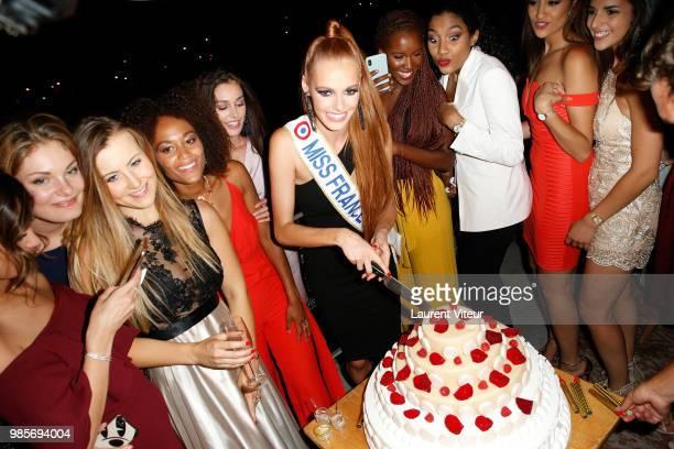 Miss France 2018 Maeva Coucke celebrates her 24th Anniversary at Bain de Soleil on June 27 2018 in Paris France