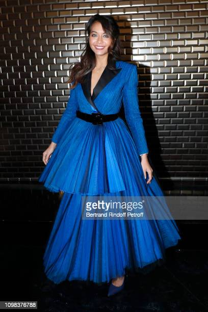 Miss France 2019 Vaimalama Chaves attends the JeanPaul Gaultier Haute Couture Spring Summer 2019 show as part of Paris Fashion Week on January 23...