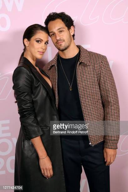 Miss France and Miss Universe 2016 Iris Mittenaere and Diego El Glaoui attend the Etam Live Show - Womenswear Spring/Summer 2021 show as part of...