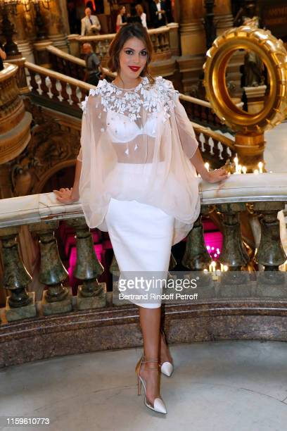 Miss France and Miss Universe 2016 Iris Mittenaere attends the Stephane Rolland Haute Couture Fall/Winter 2019 2020 show as part of Paris Fashion...