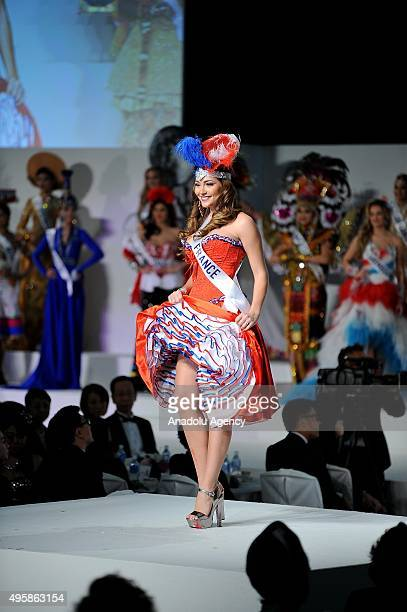 Miss France Charlotte Pirroni competes on the stage of the 55th Miss international Beauty Pageant 2015 at the Grand Prince Hotel New Takanawa in...