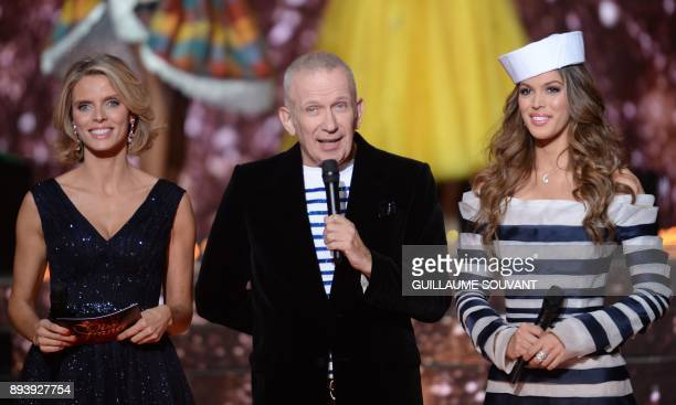 Miss France Director and Miss France 2002 Sylvie Tellier French designer and president of the jury JeanPaul Gaultier and Miss France 2016 Miss...
