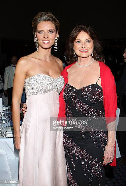 Miss France director Sylvie Tellier and Christiane Magnani attend the Miss France 2012 gala night at the Hotel Camino Real on November 10 2011 in...