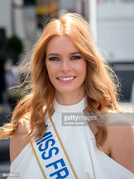 Miss France Maeva Coucke attends the Formula One Grand Prix of France at Circuit Paul Ricard on June 24 2018 in Le Castellet France