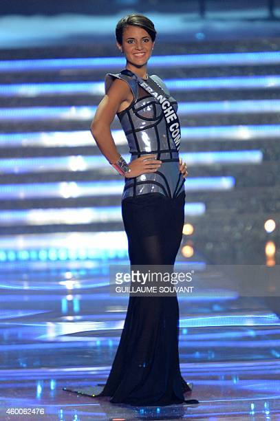 Miss Franche Comte AnneMathilde Cali poses during the Miss France 2015 beauty contest on December 6 2014 in Orleans AFP PHOTO / GUILLAUME SOUVANT