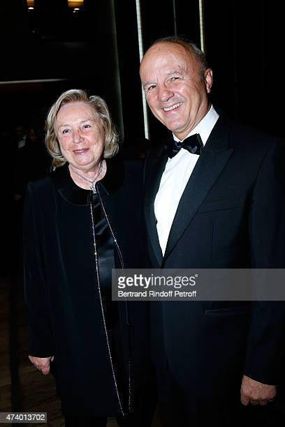Miss Francois Pinault and Legion of Honor's Grand Chancellor General Jean-Louis Georgelin attend the AROP Charity Gala with the Opera 'Le Roi...