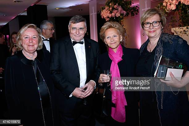 Miss Francois Pinault , AROP President Jean-Louis Beffa, President of the Honorary Committee Nicole Bru and Guest attend the AROP Charity Gala with...