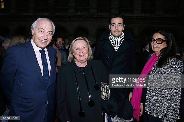 Miss Francois Pinault Maryvonne Francoise Bettencourt Meyers her husband JeanPierre Meyers and their son JeanVictor Meyers attend 'La Traviata' Opera...