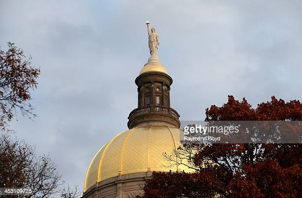 Miss Freedom stands atop the Georgia State Capitol Building dome in Atlanta Georgia on NOVEMBER 23 2013