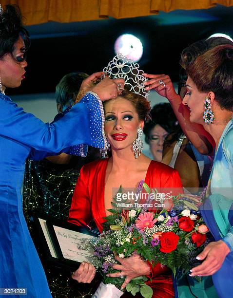 Miss Gay Pennsylvania USofA 2004 Angela Carrera is crowned during the 12th Annual Miss Gay Pennsylvania USofA Drag Queen Pageant February 28 2004 in...