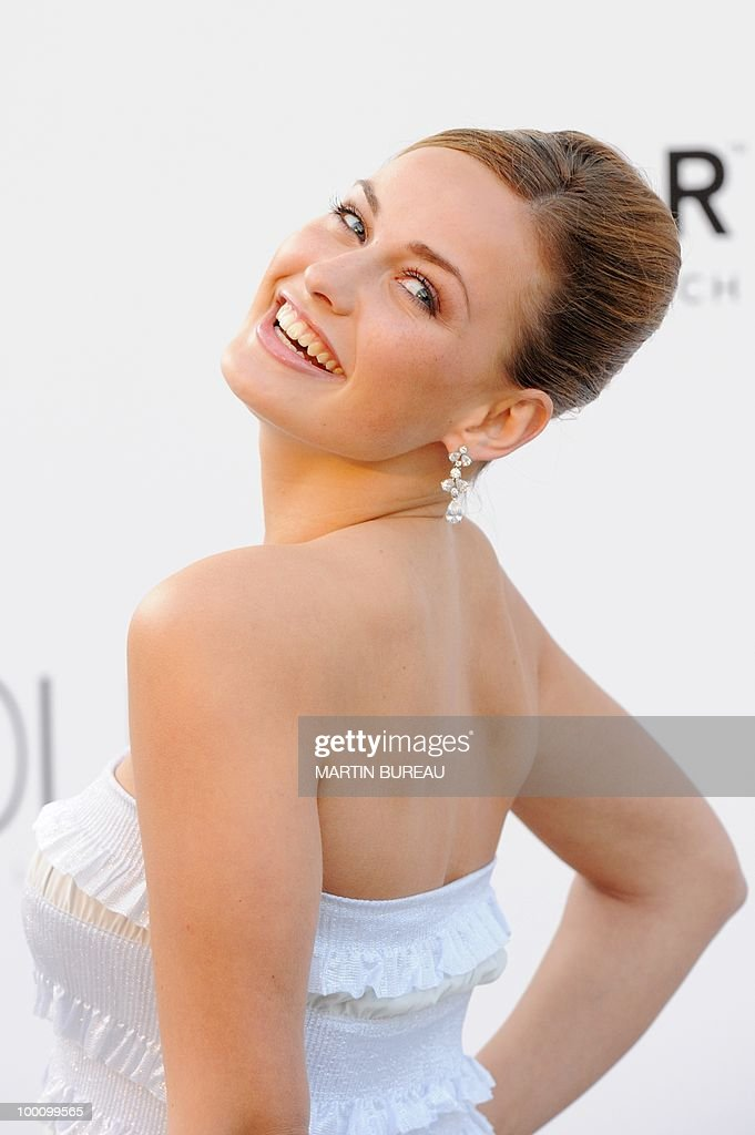 Miss Germany 2010 Anne Julia Hagen arrives at amfAR's Cinema Against Aids 2010 benefit gala on May 20, 2010 in Antibes, southeastern France.