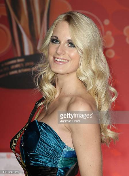 Miss Germany 2011 AnneKathrin Kosch attends the 'Deutscher Live Entertainment Award PRG LEA 2011' at the Festhalle on April 5 2011 in Frankfurt am...