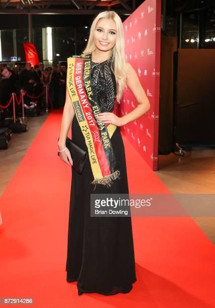Miss Germany 2017 Soraya Kohlmann arrives at the TULIP Gala 2017 at Metropolis-Halle on November 11, 2017 in Potsdam, Germany.