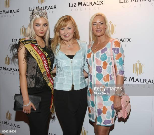 Miss Germany 2017 Soraya Kohlmann Liz Malraux and Jacqueline Pojer during the Liz Malraux Fashion Show Autumn/Winter 201718 at Hotel Atlantic on...