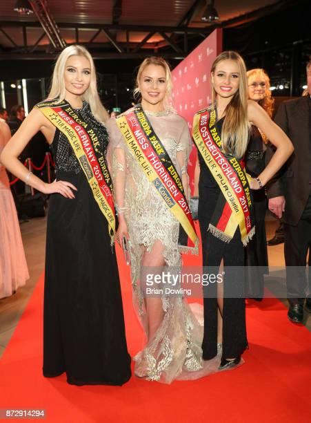 Miss Germany 2017 Soraya Kohlmann, Miss Thuringen 2017 Victoria Selivanov, and Miss Ostdeutschland 2017 Patrycja Kupka attend the TULIP Gala 2017 at...