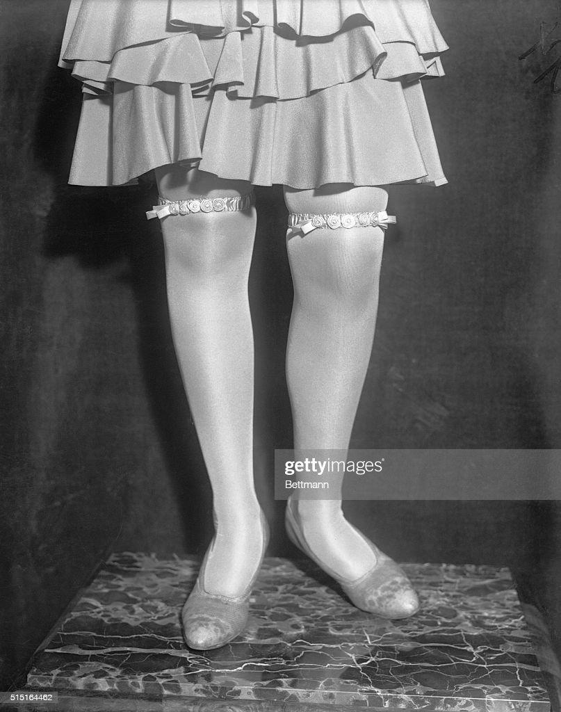 Woman Wearing Fancy Garters : News Photo