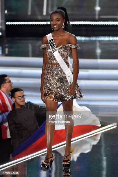 Miss Ghana 2017 Ruth Quarshie is named a top 16 finalist during the 2017 Miss Universe Pageant at The Axis at Planet Hollywood Resort Casino on...