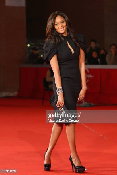 Miss Ghana Menaye Donkor attends 'The Imaginarium Of Doctor Parnassus' Premiere during day 4 of the 4th Rome International Film Festival held at the...