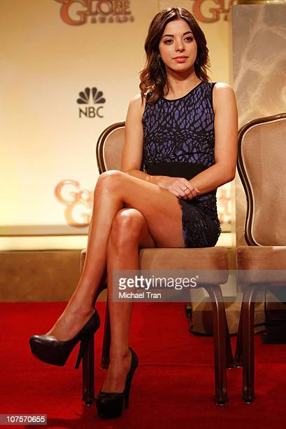 Miss Golden Globe 2011 Gia Mantegna attends the 68th Annual Golden Globe Awards nominations held at The Beverly Hilton hotel on December 14 2010 in...