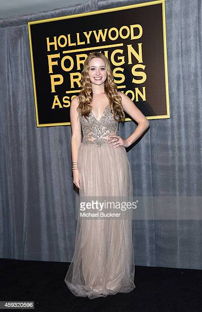 Miss Golden Globe 2015 Greer Grammar attends HFPA and InStyle celebrate the 2015 Golden Globe Award Season and Miss Golden Globe at Fig & Olive...
