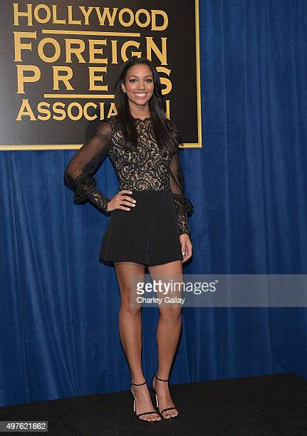 Miss Golden Globe 2016 Corinne Foxx attends Hollywood Foreign Press Association and InStyle celebrate the 2016 Golden Globes Awards season at Ysabel...