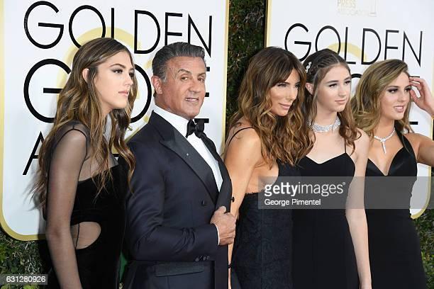 Miss Golden Globe 2017 Scarlet Stallone actress Jennifer Flavin actor Sylvester Stallone Miss Golden Globe 2017 Scarlet Stallone and Miss Golden...