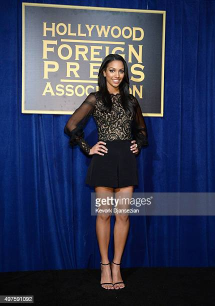 Miss Golden Globe Corinne Foxx attends Hollywood Foreign Press Association and InStyle Celebration ofThe 2016 Golden Globe Award Season at Ysabel on...
