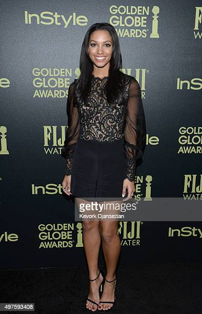 Miss Golden Globe Corinne Foxx attends Hollywood Foreign Press Association and InStyle Celebration of The 2016 Golden Globe Award Season at Ysabel on...