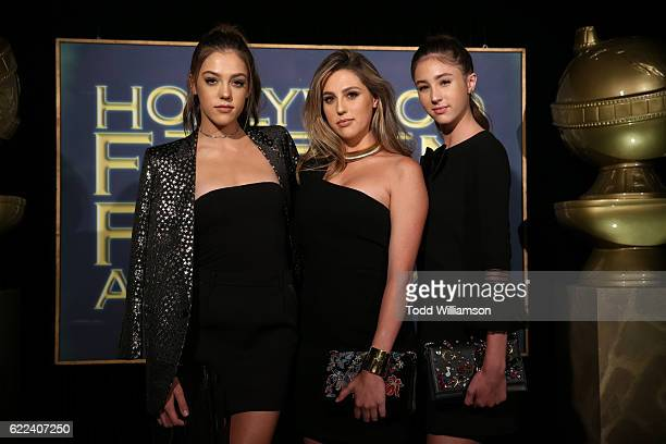2016 Miss Golden Globes Sistine Stallone Sophia Stallone and Scarlet Stallone attend the Hollywood Foreign Press Association and InStyles Celebration...
