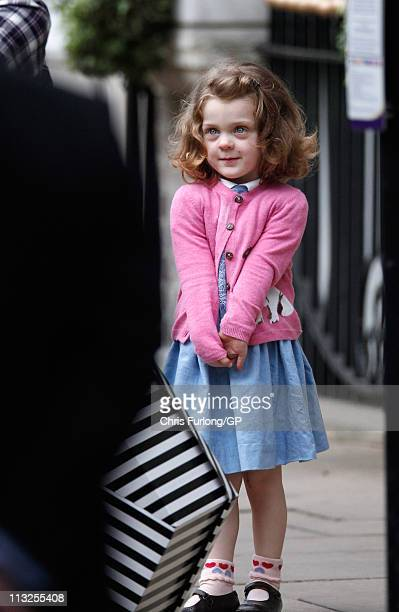 Miss Grace van Cutsem arrives at The Goring Hotel where Catherine Middleton is spending her last night before her marriage ceremony to Prince William...