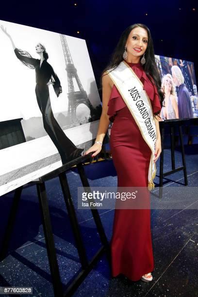 Miss Grand Germany 2017 Juliane Rohlmann during the presentation of the new Lambertz calendar 2018 at Friedrichstadtpalast on November 22 2017 in...
