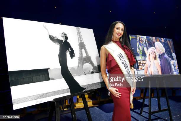 Miss Grand Germany 2017 Juliane Rohlmann during the presentation of the new Lambertz calendar 2018 at Friedrichstadtpalast on November 22 2017 in...