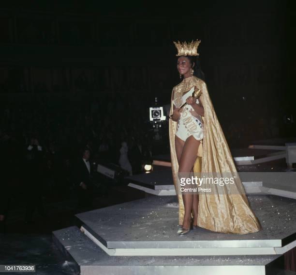 Miss Grenada Jennifer Hosten wins the Miss World 1970 beauty pageant at the Royal Albert Hall in London, 20th November 1970.
