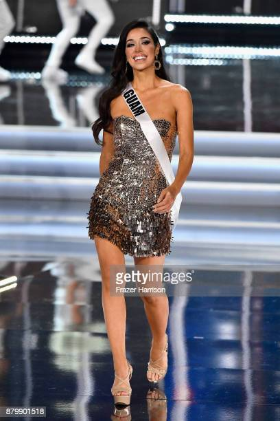 Miss Guam 2017 Myana Welch competes during the 2017 Miss Universe Pageant at The Axis at Planet Hollywood Resort & Casino on November 26, 2017 in Las...