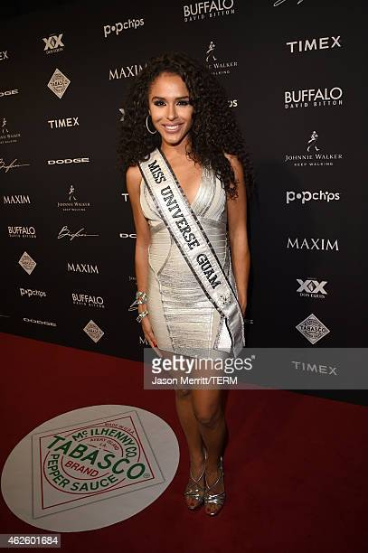Miss Guam Universe Brittany Bell attends the Maxim Party with Johnnie Walker Timex Dodge Hugo Boss Dos Equis Buffalo Jeans Tabasco and popchips on...